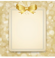 festive golden background abstract banner with vector image vector image