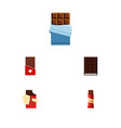 flat icon cacao set of sweet shaped box vector image vector image