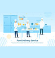 food delivery service showing chefs vector image