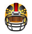 Football helmet with skul vector image