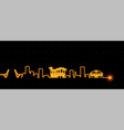 fort lauderdale light streak skyline vector image