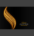golden sparkling glitter abstract wavy background vector image vector image
