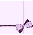 Hand-drawn bow on a pink background vector image vector image