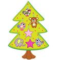 handmade christmas tree vector image