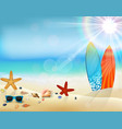Holiday background in beach vector image