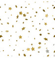 holiday background seamless pattern with stars 3d vector image