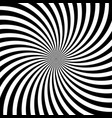 hypnotic swirl lines abstract white black optical vector image