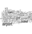 insider tips for business travel vector image vector image