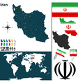 Iran map world vector image vector image