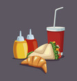 mexican fast food vector image