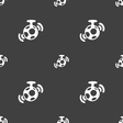 mirror ball disco icon sign Seamless pattern on a vector image vector image
