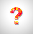 modern question mark icon vector image vector image