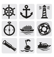 nautical set vector image vector image