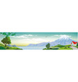 panoramic landscape - cottage by the sea vector image vector image