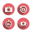 Photo camera icon Flip turn or refresh signs vector image vector image