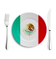 Plate with flag of Mexico vector image vector image