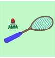 play badminton on the beach sports vector image vector image