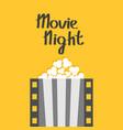 popcorn film strip line pop corn box movie vector image vector image