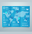 realistic 3d detailed leaflet booklet vector image vector image