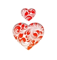 Red heart simbol vector image vector image