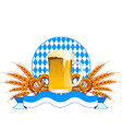 round oktoberfest celebration design with beer and vector image vector image