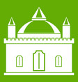 royal castle icon green vector image vector image