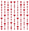 Seamless pattern with hanging heart garlands vector image vector image