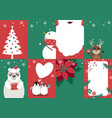 set of christmas card design vector image vector image