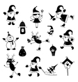 Set of Christmas icons 2 vector image vector image