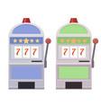 set of flat of slot machines vector image vector image