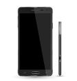 smartphone realistic mockup with digital pen vector image vector image