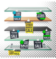 supermarket shelves cyber monday sale advertising vector image vector image