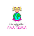 symbol of international day of the girl child vector image
