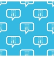 Test-tubes message pattern vector image vector image