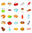 useful icons set cartoon style vector image vector image