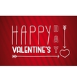 Valentine s Day poster Hand Drawn Lettering vector image