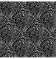White floral scales seamless pattern vector image vector image