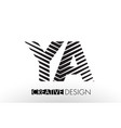 ya y a lines letter design with creative elegant vector image vector image