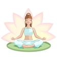Yoga Beautiful girl meditating in lotus position vector image