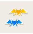 realistic design element heart devil vector image