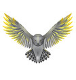 owl with golden wings vector image