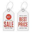 white paper sale label vector image