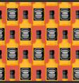 bottle of whiskey seamless pattern bourbon vector image