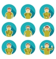 Flu Symptoms Icon Set vector image