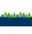 Xmas holiday header with cute Christmas tree vector image