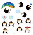 funny cartoon penguins vector image