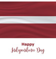 18 november latvia independence day vector image