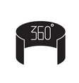 360 view black concept icon 360 view flat vector image