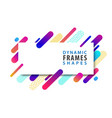 abstract rectangle frames with dynamic shape vector image vector image