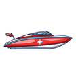 ambulance boat icon cartoon style vector image